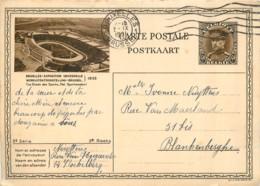 1935  Bruxelles Expo. Universelle - Le Stade De Football - Des Sports Sur Entier Postal - Voetbal
