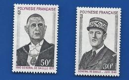 Timbre Général De Gaulle  POLYNESIE FRANCAISE    N° 89/90   Neufs - De Gaulle (General)