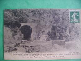 Nouvelle Ligne De Chemin De Fer De St Cécile D' Andorge A Florac 19eme Vue Tunnel Sur Le Bord De La Route De St Julien - Unclassified