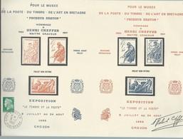 Feuille   Pêcheur Breton  Projet De Timbres  Avec Signature   Oblitération: CROZON 6-7-1986 - Other