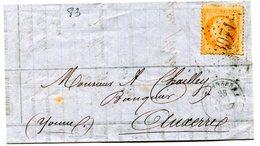 YONNE De TONNERRE LAC Du 28/11/1867 Avec N°23 Oblitéré GC 3971 - 1849-1876: Classic Period