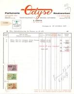 Factuur Facture - Parfumerie Odyse - Antwerpen 1967 - Droguerie & Parfumerie