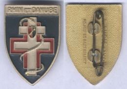 Insigne Du Sanatorium Pour Femmes Rhin Et Danube ( En Aluminium Peint ) - Medical Services
