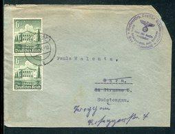 """Deutsches Reich / 1940 / Mi. 754 MeF A. Brief-Vorderseite, Int.Neben-o """"Gau Sudetenland-Amt Fuer Volkswohlfahrt"""" (12787) - Allemagne"""