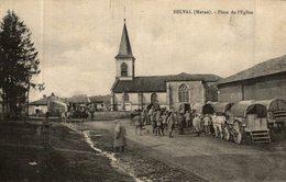BELVAL PLACE DE L'EGLISE CONVOI MILITAIRE - France