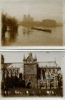 2 Photos De Notre Dame Paris Vers 1900 - Places