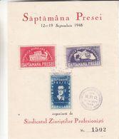 Roumanie - Document De 1948 - Oblit Bucaresti - Presse - Plume - Drapeaux - Flamme - 1948-.... Républiques