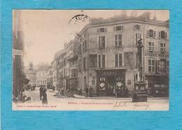 Épinal ( Vosges ). - Fontaine Pinau Et Rue Auber. - Café-Tabac. - Epinal