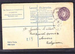 Irlande - Lettre De 1931 - Entiers Postaux - Exp Vers Anvers - Format 96 X 150 - Valeur 95 €  ! - 1922-37 Stato Libero D'Irlanda