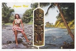 Carte Postale Charmante Tahitienne A La Rivière Fautaua - Polynésie Française