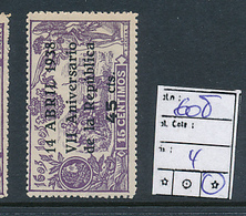 SPAIN YVERT 608 LH - 1931-Aujourd'hui: II. République - ....Juan Carlos I