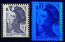 Liberté 2240_0.70 Papier WHILEY Gomme GT Blanc Mat En !-(comme INVERPARK Des Sabines)-_tirage Du 22/5/87 - 1982-90 Liberty Of Gandon