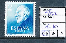 SPAIN YVERT 832 MNH - 1931-Aujourd'hui: II. République - ....Juan Carlos I