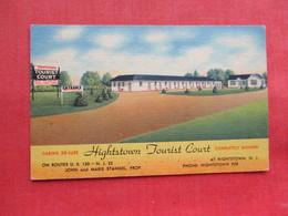 Hightstown Tourist Court    Hightstown   NJ ----ref 3301 - United States