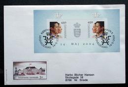DENMARK 2004   Royal Wedding  MInr.1369-70  Block 23     FDC   ( Lot  Ks) FOGHS COVER - FDC