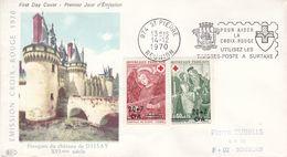 Croix Rouge - France - Réunion - Lettre De 1970 - Oblit St Pierre - Religieux - Valeur 30 Euros - Lettres & Documents