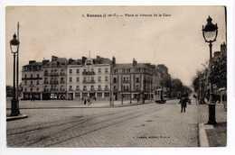 - CPA RENNES (35) - Place Et Avenue De La Gare (avec Tramway) - Edition A. Lamiré N° 3 - - Rennes