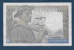 France - 10 F  Mineur  Du  10 - 3 - 1949 - 1871-1952 Circulated During XXth