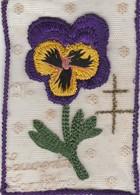 Militaria : BRODERIE : 1916 - Souvenir De Lorraine - ( Croix De Lorraine Brodée En Dorée ) Format 8,5cm X 12,5cm - - Autres