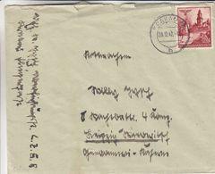 Allemagne - Pologne - Generalgouvernement - Lettre De 1942 ° - Oblit Krakau - Châteaux - Occupation 1938-45