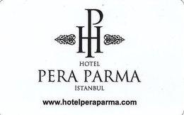 TURCHIA KEY HOTEL Hotel Pera Parma Istanbul - Hotelkarten