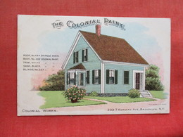Back Side Advertising-- The Colonial Paint-- Home At 233-7 Norman Ave Brooklyn NY    -ref 3301 - Advertising