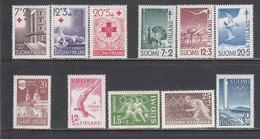 Finland 1951 - Year Set Complete, Mi-Nr. 302/402, MNH** - Finland