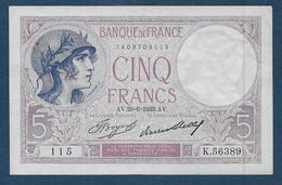 Billet 5 F  Violet  Du 29 - 6 - 1933 - 1871-1952 Antiguos Francos Circulantes En El XX Siglo