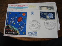 Lot De 4 Pleurmeur Boudou Espace  Satellite Fdc Enveloppe 1 Er Jour - FDC