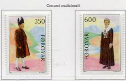 PIA -FAROER- 1989 : Costumi Tradizionali -  (Yv  178-79) - Isole Faroer