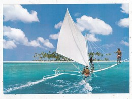 Carte Postale Piroque A Voila Devant Matu Tapu A Bora Bora - Polinesia Francese