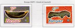 PIA - FAROER - 1989 : EUROPA  - (Yv  176-77) - Isole Faroer