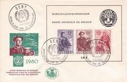FDC Aus Belgien -ANNÈE MONDIALE DU RÉFUGIÉ- Aus Gent - 1951-60