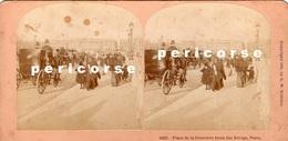 Paris  Place De La Concorde  ( Photo Stéréoscopique Albumine De B.W. Kilburn) - Photos Stéréoscopiques