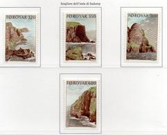 PIA - FAROER - 1989 : Scogliere Dell'isola Di Suduroy  - (Yv  184-87) - Isole Faroer