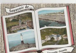 LINVERVILLE-GOUVILLE (50). Souvenir De ... Forme Livre, 4 Vues: Eglise, Phare De Senequet, Plage, Les Forges - Autres Communes