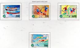 PIA - FAROER - 1989 : Giochi Sportivi Delle Isole  - (Yv  180-83) - Isole Faroer