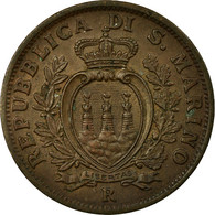 Monnaie, San Marino, 10 Centesimi, 1935, Rome, SUP, Bronze, KM:13 - Saint-Marin