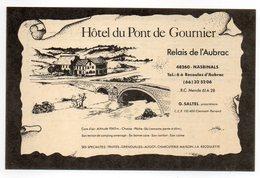 CARTE DE VISITE 48 NASBINALS     HOTEL DU PONT DE GOURNIER - Cartes De Visite