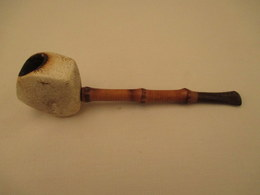 Pipe  Usagée  Tuyau Bambou  Bon Etat - Pipes & Accessoires