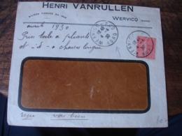 Wervicq Sud Obliteration Sur Lettre Commerciale - 1921-1960: Période Moderne