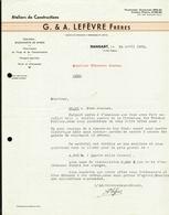 Ransart. Lefèvres Frères. Ateliers De Constructions. Wagonnets De Mines. **** - Belgique