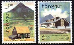 PIA - FAROER - 1990 : Europa : Edifici Postali Di Ieri E Di Oggi - (Yv  192-93) - Europa-CEPT
