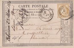 GARD CPP 1876 CALVISSON TYPE 17 SUR CERES FIN DE GC - 1849-1876: Période Classique