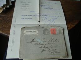 Rouger Aime Limoges Facture Enveloppe Commerciale Pour Feytiat - France