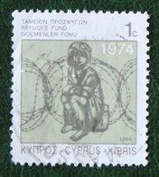 1c TAX REFUGEE FUND 1996 Mi Z8 Z 8 Type II  Y&T 885 Used Gebruikt Oblitere CYPRUS ZYPERN CHYPRE - Zypern (Republik)