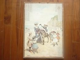 GRAND CALENDIERS DE 1905 PROMENADE A ANE SUR LA GREVE SIGNE ROSSI - Calendars