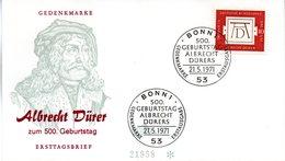 """BRD Schmuck-FDC  """"500.Geburtstag Von Albrecht Dürer"""", Mi. 677 ESSt 21.5.1971 BONN 1 - BRD"""