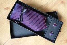 Cravate Et Boutons De Manchettes Pascal Morabito - Boutons De Col /de Manchettes