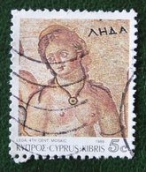 5c Mozaic Mosaics From Paphos Art 1989 Mi 734 Y&T - Used Gebruikt Oblitere CYPRUS ZYPERN CHYPRE - Zypern (Republik)